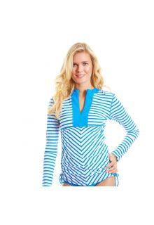 Cabana-Life---UPF50+-Cobalt-striped---Ruched-Rashguard
