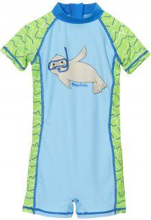 Playshoes---UV-Schwimmanzug-für-Kinder---Robbe---Blau-/-Grün
