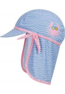 Playshoes---UV-Schutz-Mütze-für-Mädchen---Krebs---Hellblau/Rosa