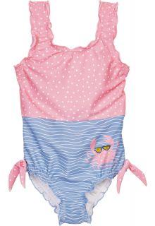 Playshoes---UV-Schutz-Badeanzug-für-Mädchen---Krebs---Rosa/Hellblau