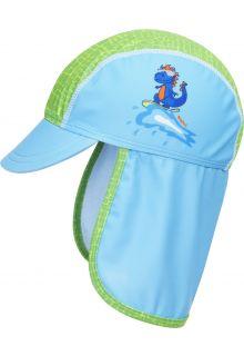 Playshoes---UV-Schutz-Mütze-für-Jungen---Dino---Hellblau/Grün