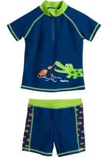 Playshoes---UV-Badeset-2-teilig-für-Jungen---Krokodil---Blau