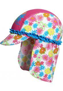 Playshoes---UV-Sonnenhut-für-Kinder---Rosa-Rüschen