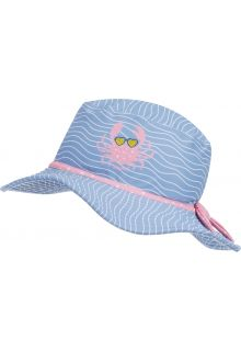 Playshoes---UV-Schutz-Sonnenhut-für-Mädchen---Krebs---Hellblau/Rosa