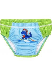 Playshoes---UV-Schutz-Windelhose-für-Babys---Waschbar---Dino---Grün/Hellblau
