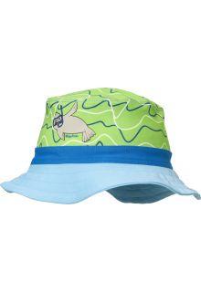 Playshoes---UV-Sonnenhut-für-Jungen-und-Mädchen---Robbe---Blau-/-Grün