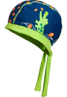 Playshoes---UV-Schwimmbandana-für-Kinder---Krokodil---Blau/Grün
