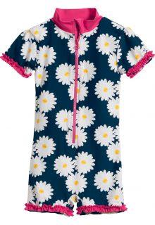 Playshoes---UV-Schwimmanzug-für-Mädchen---Margerite---Blau/Pink
