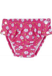 Playshoes---UV-Schwimmwindel-für-Mädchen--Blumen-Druck---Pink
