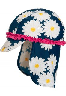 Playshoes---UV-Sonnenkappe-für-Mädchen---Margerite---Blau-/-Pink-/-Weiß