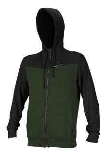 O'Neill---UV-Jacke-mit-Kapuze-für-Herren---Hybrid-Sun---Olivgrün
