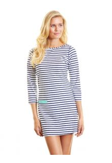Cabana-Life---UPF50+-Swim-UV-Kleid--Navy-Stripe--Large