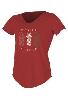O'Neill---UV-Shirt-für-Damen---kurzärmlig---Graphic-Sun---Taos-Rot