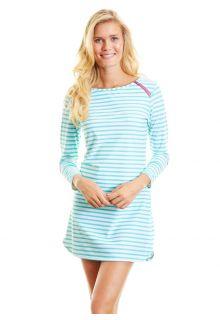 Cabana-Life---UPF50+-Zipper-Swim-UV-Kleid--Green-Stripe--Large