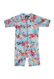 Molo---UV-Schwimmanzug-kurzärmlig-für-Mädchen---Neka---Coral-Stripe