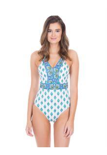 Cabana-Life---UV-Schutz-Badeanzug-für-Damen---Grün/Weiss