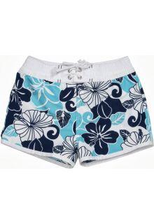 Snapper-Rock---UV-Schutz-Badeshorts-für-Mädchen-Blumen-blau