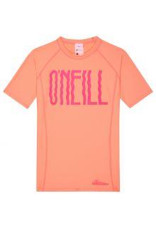 O'Neill---UV-Shirt-kurzärmlig-für-Mädchen---Logo---Pfirsichfarben