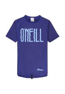 O'Neill---UV-Shirt-kurzärmlig-für-Mädchen---Logo---Blau