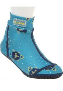 Duukies---Jungen-UV-Strandsocken---Astronaut-Petrol---Hellblau