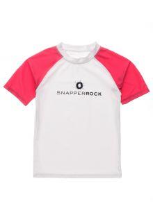 Snapper-Rock---UV-Rash-Top-für-Jungen---Kurzarm---Weiß/Rot