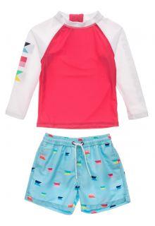 Snapper-Rock---UV-Badeset-für-Babies---Langarm---Maritime-Fliers---Koralle