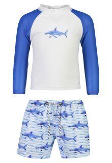 Snapper-Rock---UV-Badeset-für-Babys---School-of-Sharks---Weiß/Blau