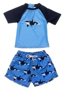 Snapper-Rock---UV-Badeset-für-Babies---Kurzarm---Orca-Ocean---Blau