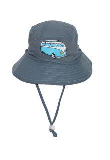 Rigon---UV-Sonnenhut-für-Kinder---Blau-/-Busaufdruck