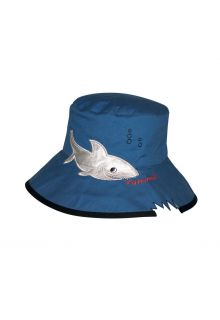 Rigon---UV-Sonnenhut-für-Kinder---Blau-/-Haiaufdruck