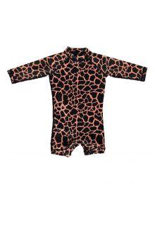 Beach-&-Bandits---UV-Schwimmanzug-für-Babies---Spotted-Moray---Schwarz