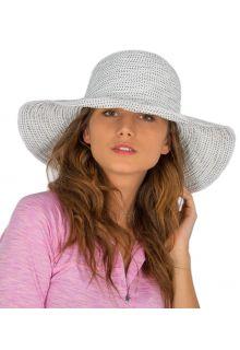 Rigon---UV-Schlapphut-für-Damen---Weiß-/-Pünktchen