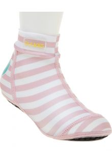 Duukies---Mädchen-UV-Strandsocken---Baby-Pink---Rosa-gestreift