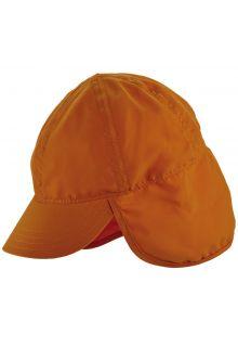 Scala---Mütze-mit-Nackenschutz-für-Kinder---Orange