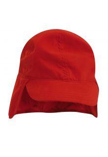 Scala---Mütze-mit-Nackenschutz-für-Kinder---rot