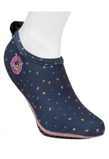 Duukies---Damen-UV-Strandsocken---Ladies-Confetti-Blue---Dunkelblau