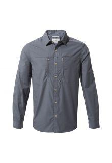Craghoppers---UV-Hemd-für-Herren---Langarmshirt---Kiwi-Boulder---Blaugrau