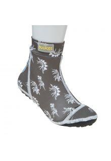 Duukies---Jungen-UV-Strandsocken---Dino-Grey---Grau