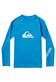 Quicksilver---UV-Badeshirt-für-Jungen---Langärmlig---All-Time---Hellblau