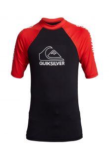 Quicksilver---UV-Badeshirt-für-Teenager---On-Tour---Karminrot
