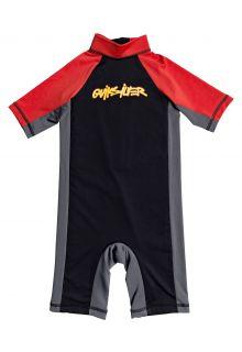 Quicksilver---UV-Schwimmanzug-für-Jungen---Spring-Joy---Schwarz/Rot