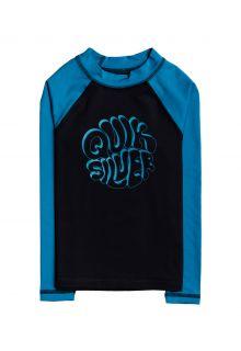 Quicksilver---UV-Badeshirt-für-Jungen---Langärmlig---Bubble-Trouble---Schwarz