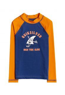 Quicksilver---UV-Badeshirt-für-Jungen---Langärmlig---Bubble-Trouble---Orange