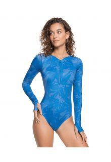 Roxy---UV-Badeanzug-für-Damen---Langärmlig---Pop-Surf---Blue-Flower