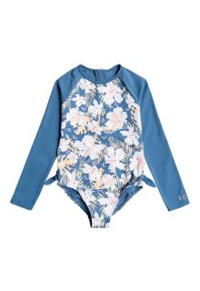 Roxy---UV-Badeanzug-für-Mädchen---Langärmlig---Swim-Lovers---Blue-Moonlight