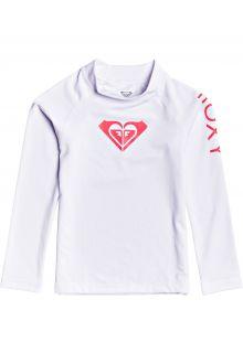 Roxy---UV-Badeshirt-für-junge-Mädchen---Langarmshirt---Whole-Hearted---Hellweiß