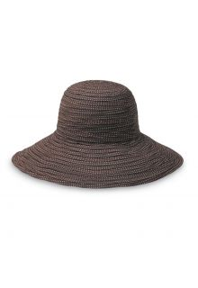 Emthunzini-Hats---UV-Floppy-Sonnenhut-für-Damen---Scrunchie---Braun