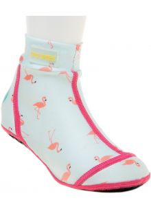 Duukies---Mädchen-UV-Strandsocken---Flamingo-Mint---Mint