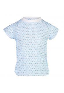 Snapper-Rock---UV-Badeshirt-für-Mädchen---Oceania-Sustainable---Blau/Weiß