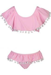 Snapper-Rock---Volant-Bikini-für-Mädchen---Pom-Pom---Rosa